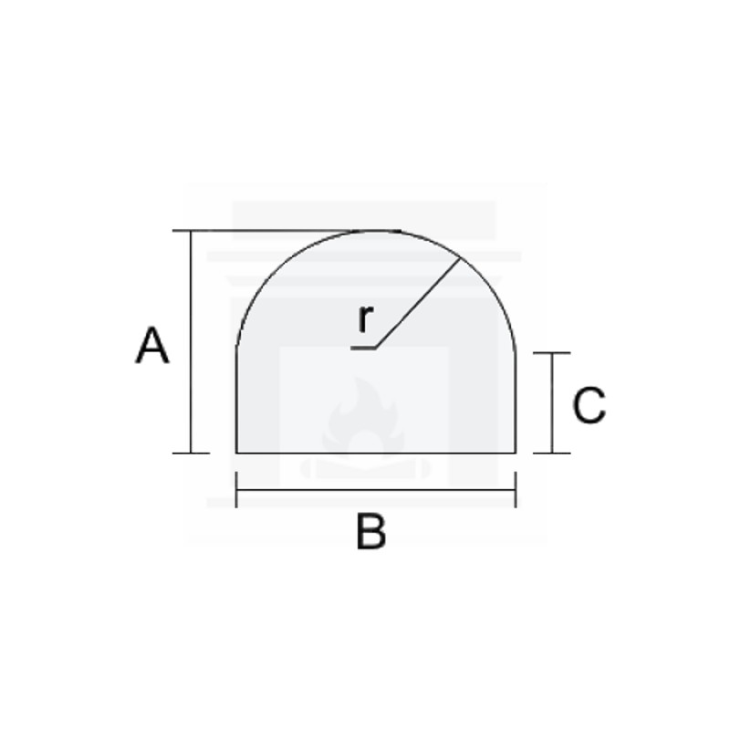 Szkło kominkowe żaroodporne na wymiar 3 mm z okrągłym nacięciem