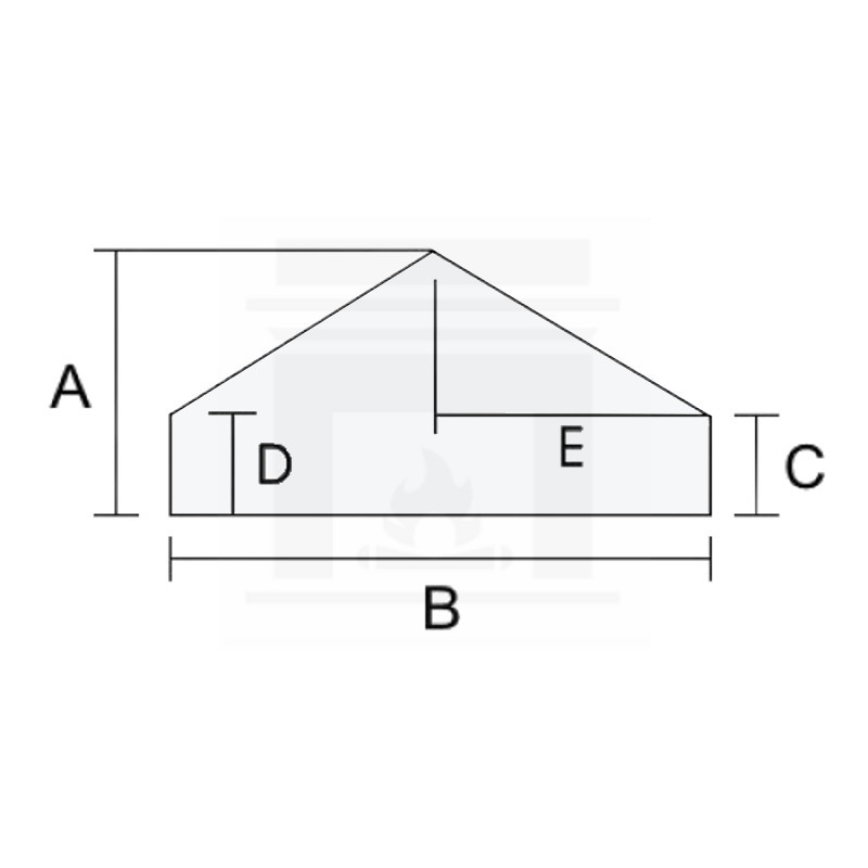 Szkło kominkowe żaroodporne na wymiar 3 mm w kształcie domku