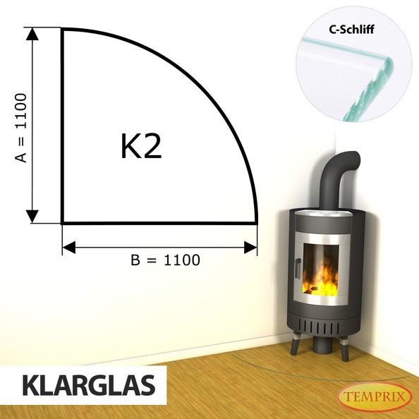 Podstawa kominkowa ze szkła przezroczystego K2 -1