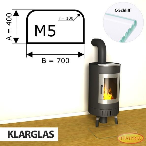 Podstawa kominkowa ze szkła przezroczystego M5 -1