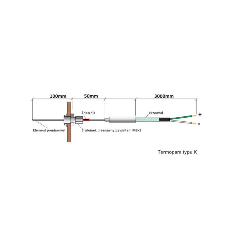 RT-08 OS Grafik WOODLINE 2 100 mm (TITANIUM Design) Tatarek