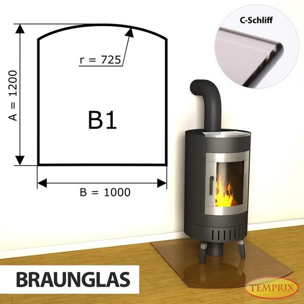 Podstawa kominkowa ze szkła brązowego B1 -1