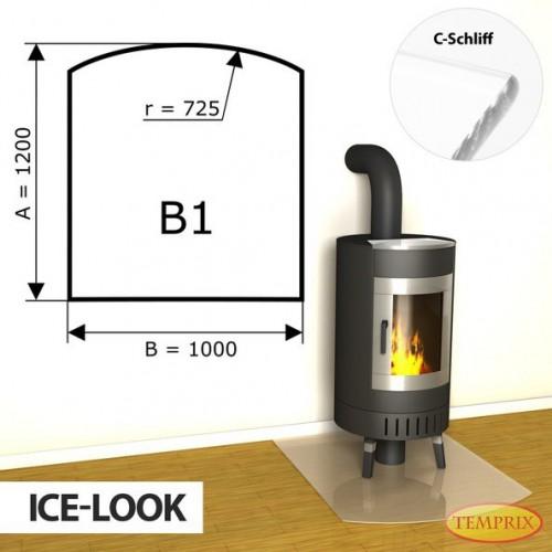 Podstawa kominkowa ze szkla jak lod B1
