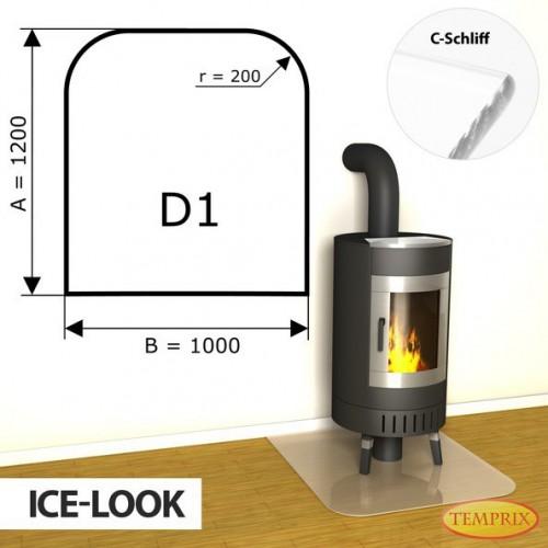 Podstawa kominkowa ze szkla jak lod D1