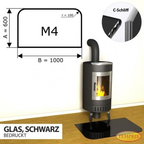 Podstawa kominkowa ze szkla czarnego M4