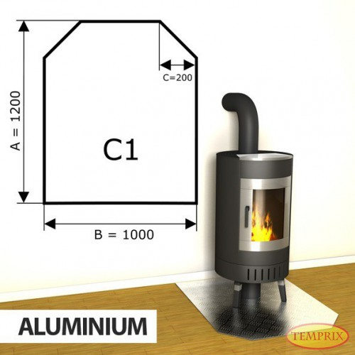Podstawa kominkowa z aluminium C1