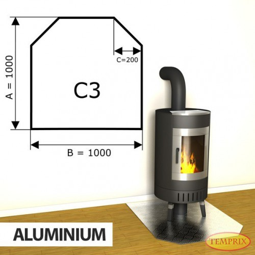 Podstawa kominkowa z aluminium C3