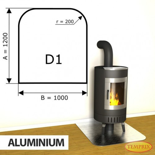 Podstawa kominkowa z aluminium D1