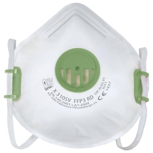 Polmaska filtrujaca FFP3 z zaworkiem