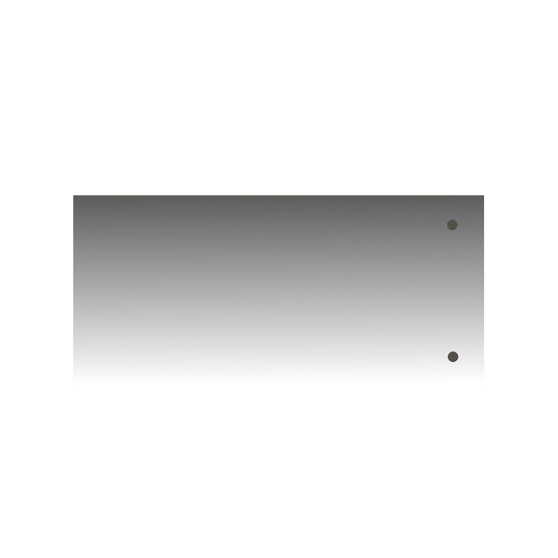 Szkło kominkowe żaroodporne na wymiar Mirror Glass z dwoma otworami -1