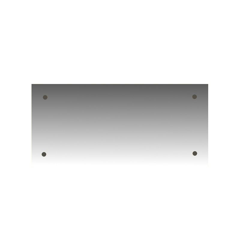 Szkło kominkowe żaroodporne na wymiar Mirror Glass z czterema otworami -1