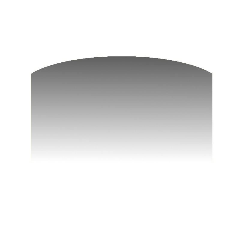 Szkło kominkowe żaroodporne na wymiar Mirror Glass z okrągłym nacięciem -1