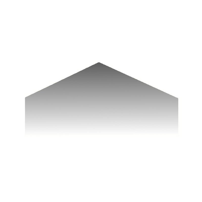 Szkło kominkowe żaroodporne na wymiar Mirror Glass w kształcie domku -1