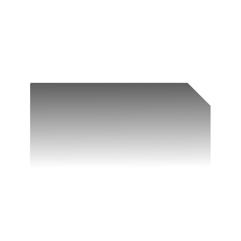 Szkło kominkowe żaroodporne na wymiar Mirror Glass z jednym ściętym rogiem -1