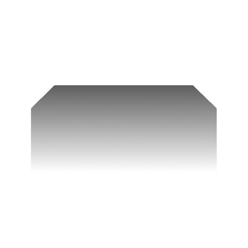 Szkło kominkowe żaroodporne na wymiar Mirror Glass z dwoma ściętymi rogami -1