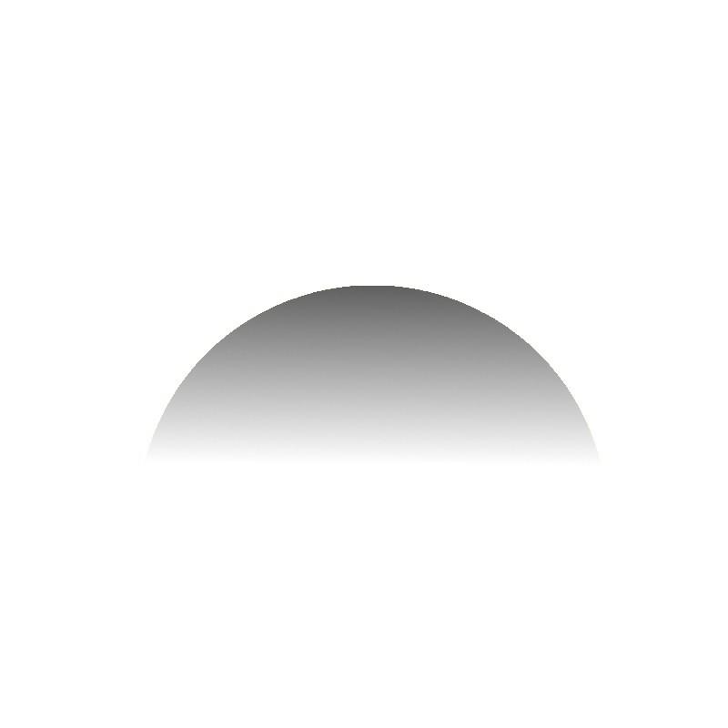 Szkło kominkowe żaroodporne na wymiar Mirror Glass w kształcie półkola -1
