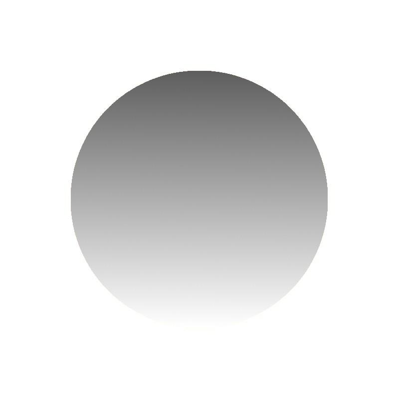 Szkło kominkowe żaroodporne na wymiar Mirror Glass w kształcie koła -1