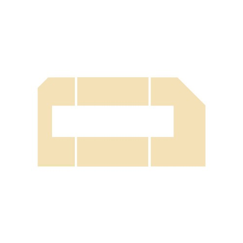 Wyłożenie żarobetonowe na podłogę do kominka typu Lechma Green