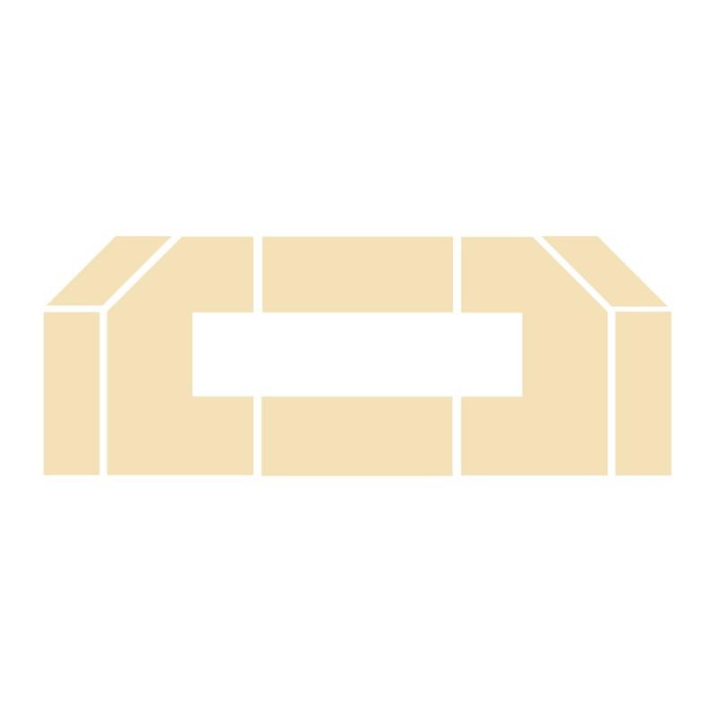 Wyłożenie żarobetonowe na podłogę do kominka typu Lechma Prestige-1