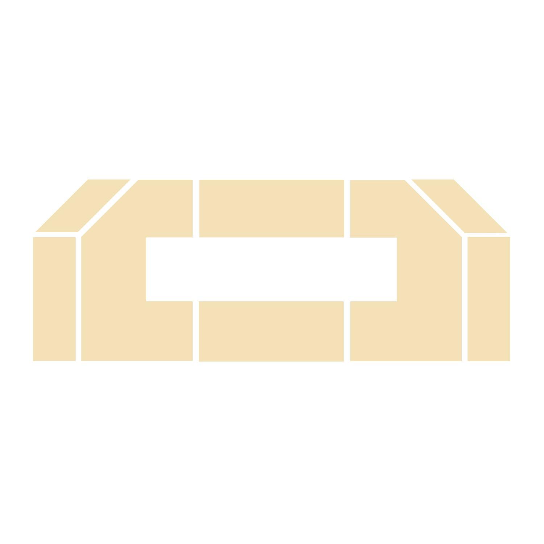 Wyłożenie żarobetonowe na podłogę do kominka typu Prestige -1