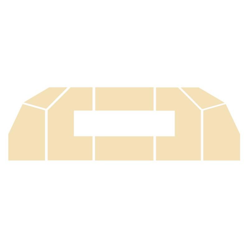 Wyłożenie żarobetonowe na podłogę do kominka typu Lechma Flat-1