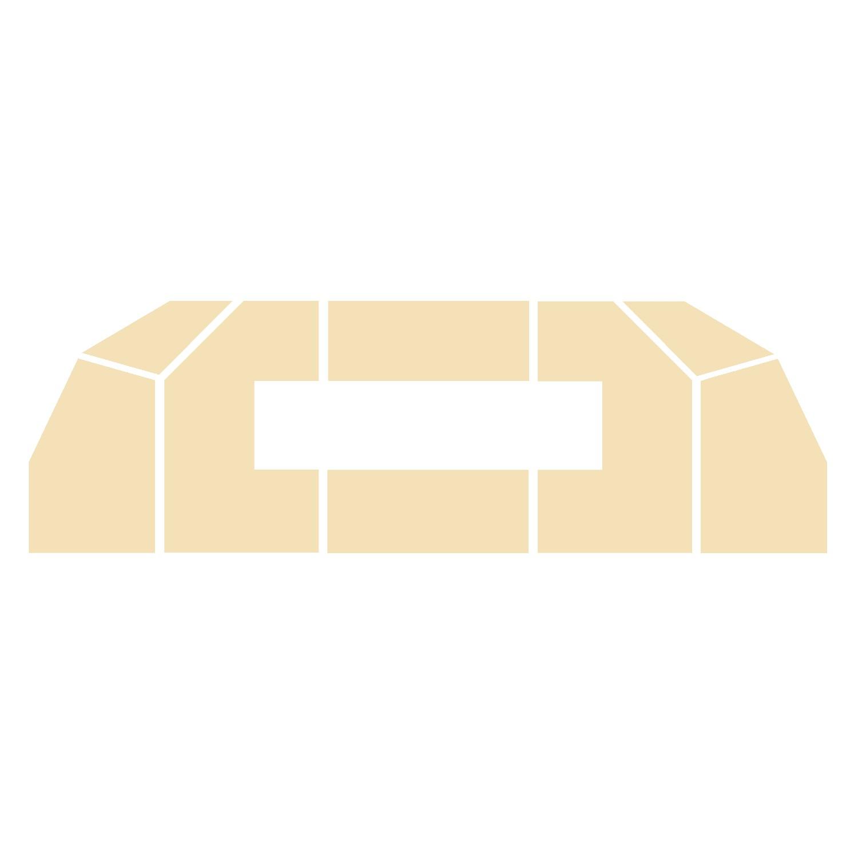 Wyłożenie żarobetonowe na podłogę do kominka typu Flat -1