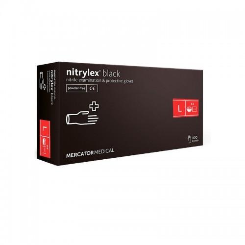 Rekawice nitrylowe NITRYLEX Black L