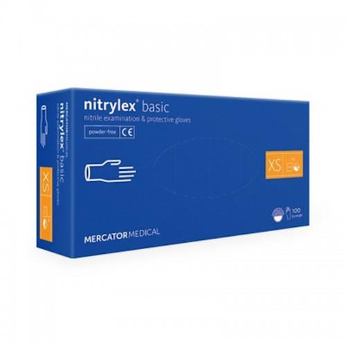 Rekawice nitrylowe NITRYLEX Basic XS