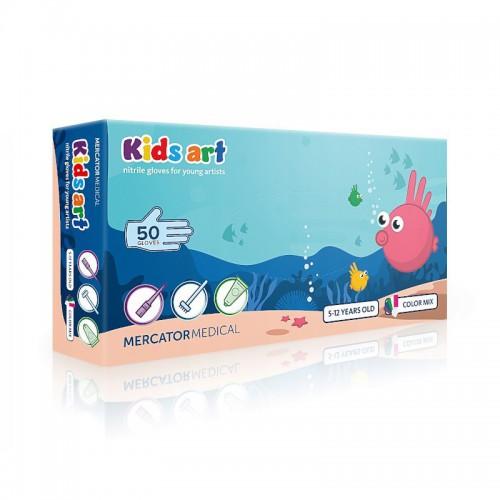Rekawice nitrylowe dla dzieci KIDS ART XS - Mix kolorow