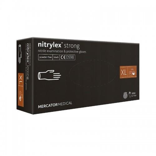 Rekawice nitrylowe NITRYLEX Strong Black XL