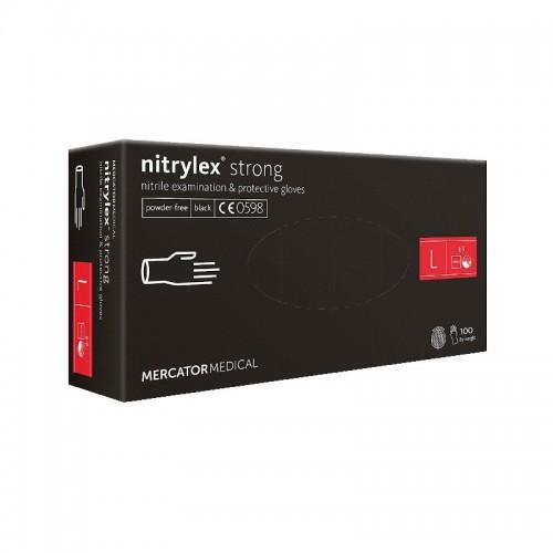 Rekawice nitrylowe NITRYLEX Strong Black L