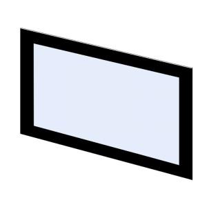 Szyba kominkowa zewnętrzna dekor do kominka typu Flat XL PL400