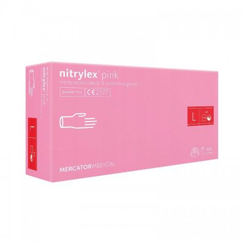 Rekawice nitrylowe NITRYLEX Pink L