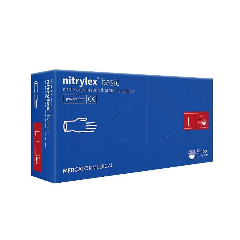 Rękawice nitrylowe NITRYLEX Basic L 100-1
