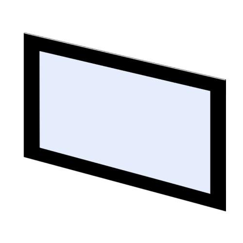 Szyba kominkowa zewnętrzna dekor do kominka typu Flat PL400