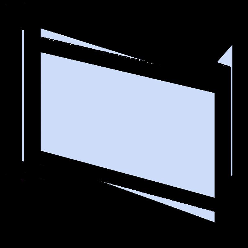 Szyba kominkowa zewnętrzna dekor do kominka Lechma Flat PL400 -1