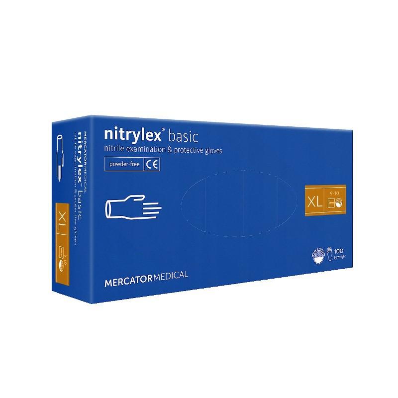 Rękawice nitrylowe NITRYLEX Basic XL 100-1