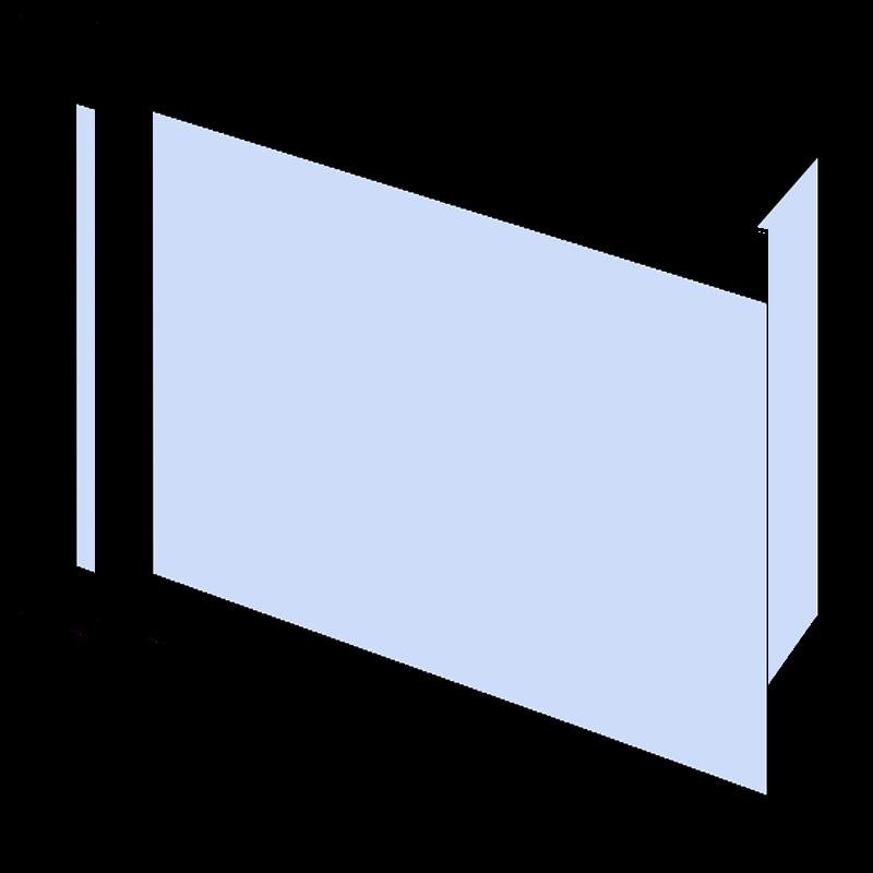 Szyba kominkowa zewnętrzna przednia dekor do kominka Lechma Green PL500 -1