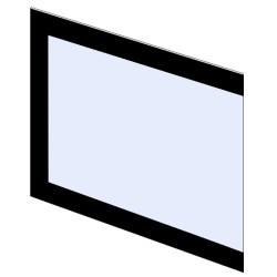 Szyba kominkowa zewnętrzna przednia dekor do kominka typu Exclusive PL200