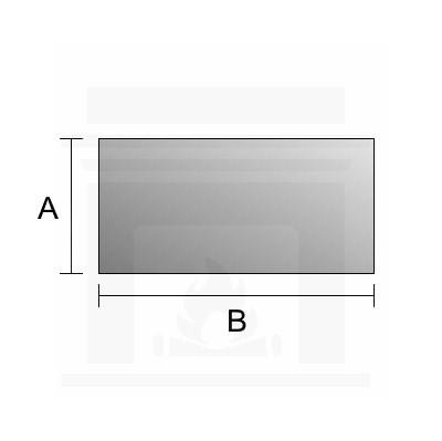 Szkło kominkowe żaroodporne lustrzane Mirror Glass na wymiar 4 mm