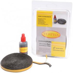Zestaw naprawczy do szyby kominkowej Temprix 10x2 mm + klej