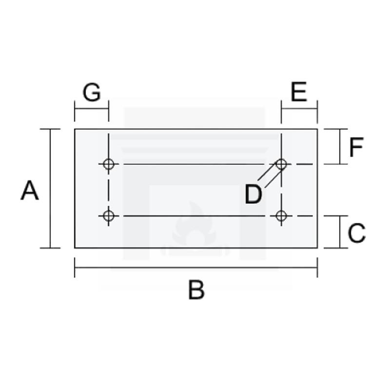 Szkło kominkowe żaroodporne na wymiar 4 mm z czterema otworami