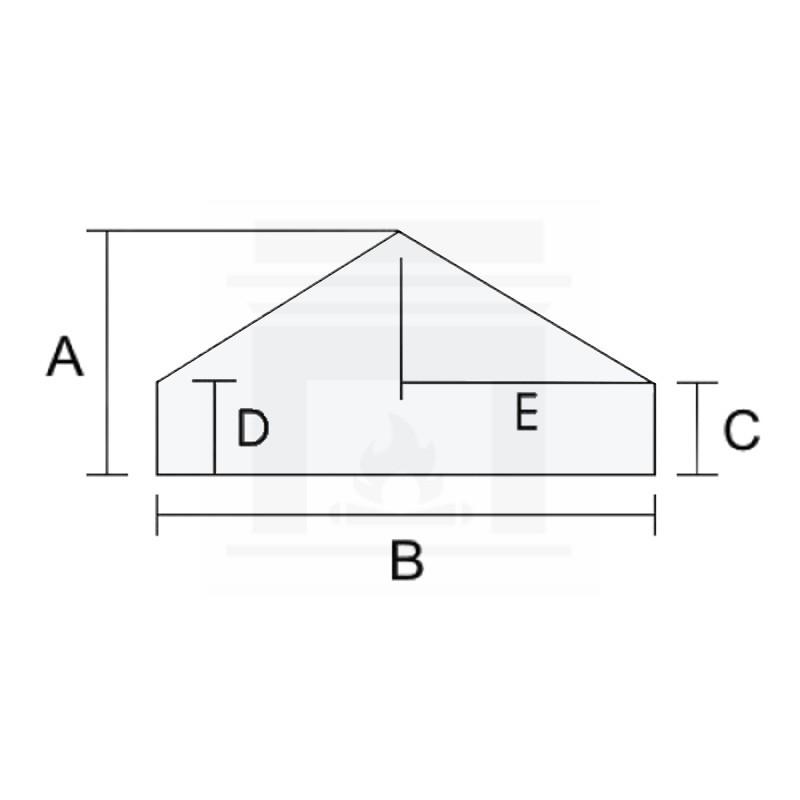 Szkło kominkowe żaroodporne na wymiar 4 mm w kształcie domku