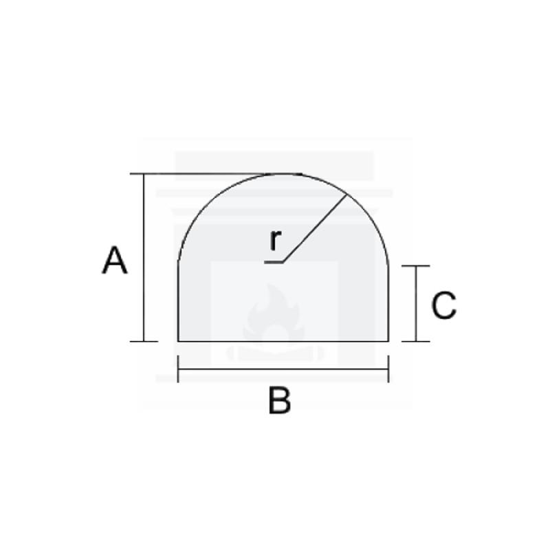 Szkło kominkowe żaroodporne na wymiar 5 mm z okrągłym nacięciem
