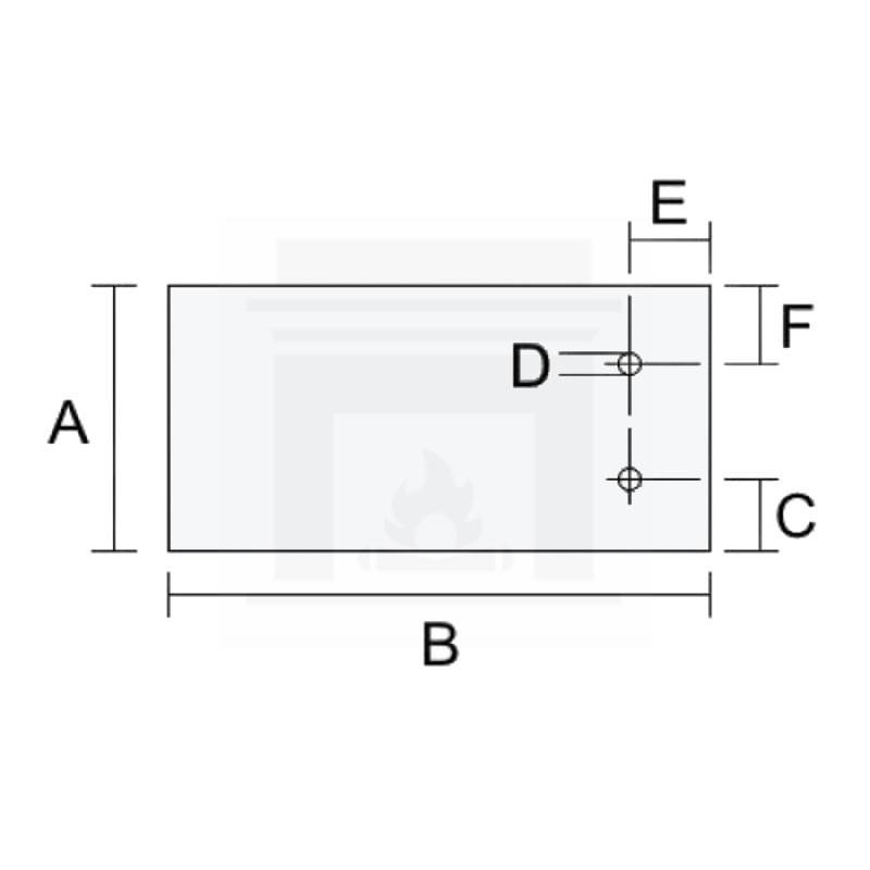 Szkło kominkowe żaroodporne na wymiar 3 mm z dwoma otworami